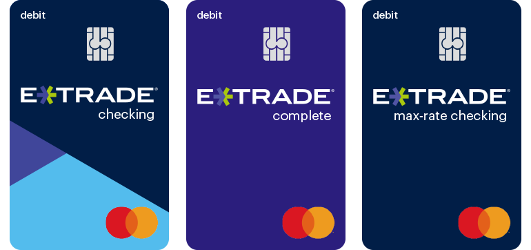 images of ETRADE debit cards