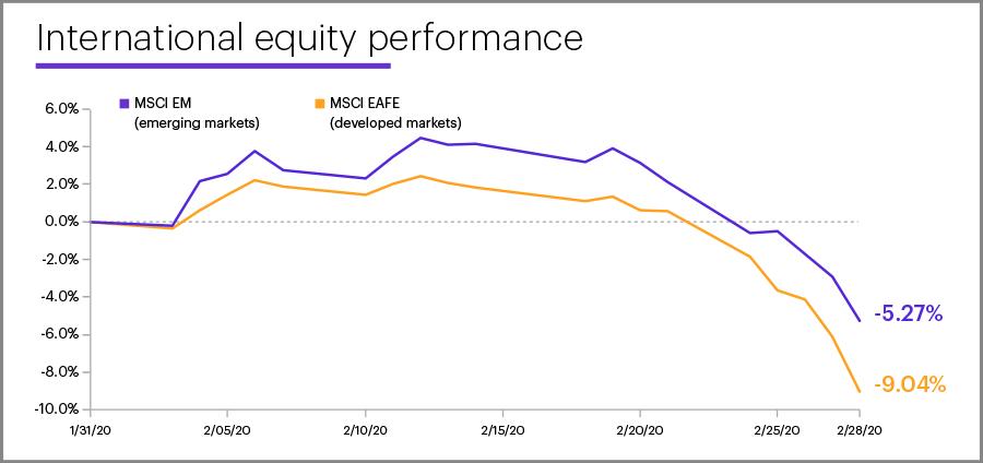 February 2020 international equity performance