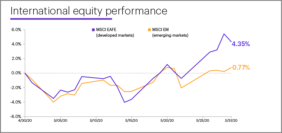 May 2020 international equity performance