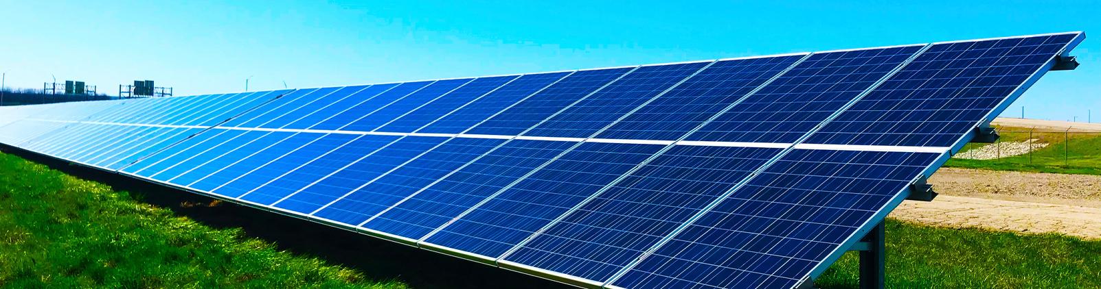 Image of solar panels - banner image