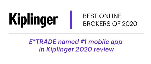 Kiplinger Best of Online Brokers Survey 2019 - Number 1 Online Broker Award
