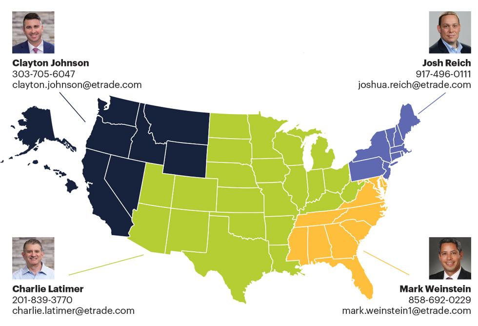 Advisor Services sales team map